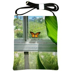 Butterfly #17 Shoulder Sling Bags by litimages