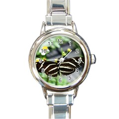 Butterfly #22 Round Italian Charm Watch by litimages