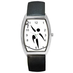Aéroball Pictogram Barrel Style Metal Watch