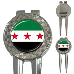Flag Of Syria 3-in-1 Golf Divots by abbeyz71