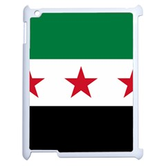 Flag Of Syria Apple Ipad 2 Case (white) by abbeyz71