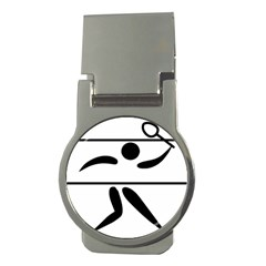 Badminton Pictogram Money Clips (round)