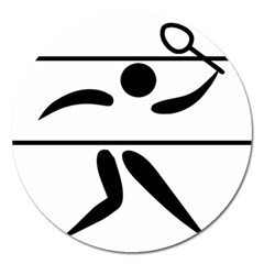 Badminton Pictogram Magnet 5  (round) by abbeyz71