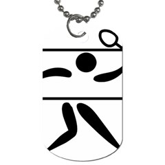 Badminton Pictogram Dog Tag (one Side) by abbeyz71