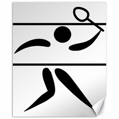 Badminton Pictogram Canvas 16  X 20   by abbeyz71