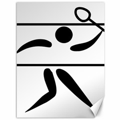 Badminton Pictogram Canvas 36  X 48   by abbeyz71