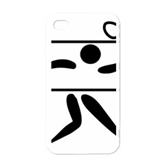 Badminton Pictogram Apple Iphone 4 Case (white) by abbeyz71