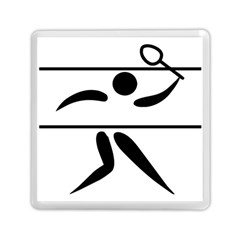 Badminton Pictogram Memory Card Reader (square)  by abbeyz71