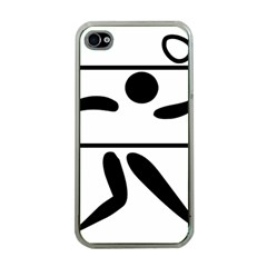 Badminton Pictogram Apple Iphone 4 Case (clear) by abbeyz71