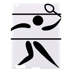Badminton Pictogram Apple Ipad 3/4 Hardshell Case by abbeyz71