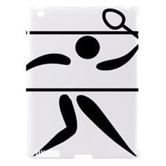 Badminton Pictogram Apple Ipad 3/4 Hardshell Case (compatible With Smart Cover) by abbeyz71