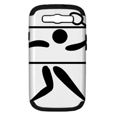 Badminton Pictogram Samsung Galaxy S Iii Hardshell Case (pc+silicone) by abbeyz71