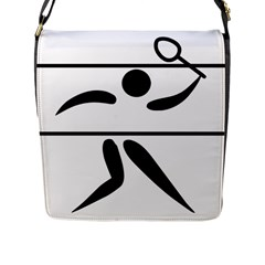 Badminton Pictogram Flap Messenger Bag (l)  by abbeyz71
