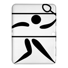Badminton Pictogram Samsung Galaxy Tab 4 (10 1 ) Hardshell Case  by abbeyz71