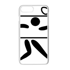 Badminton Pictogram Apple Iphone 7 Plus White Seamless Case