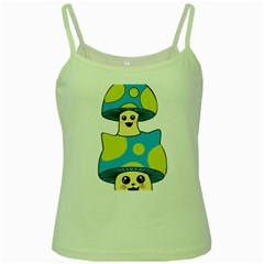 Meowshroom Green Spaghetti Tank by Psicodelico