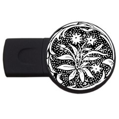 Decoration Pattern Design Flower Usb Flash Drive Round (4 Gb)