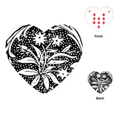 Decoration Pattern Design Flower Playing Cards (heart)