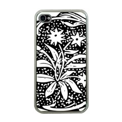 Decoration Pattern Design Flower Apple Iphone 4 Case (clear)