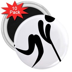 Bandy Pictogram 3  Magnets (10 Pack)  by abbeyz71