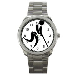 Bandy Pictogram Sport Metal Watch by abbeyz71