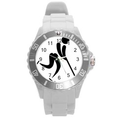 Bandy Pictogram Round Plastic Sport Watch (l) by abbeyz71