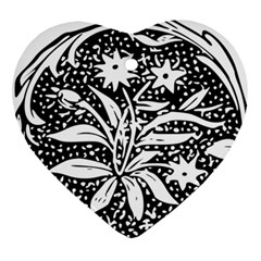 Decoration Pattern Design Flower Ornament (heart) by Amaryn4rt