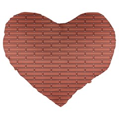 Brick Lake Dusia Wall Large 19  Premium Flano Heart Shape Cushions