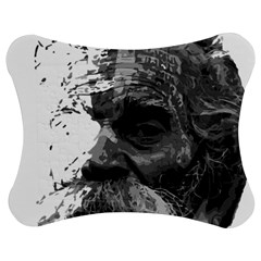 Grandfather Old Man Brush Design Jigsaw Puzzle Photo Stand (bow) by Amaryn4rt