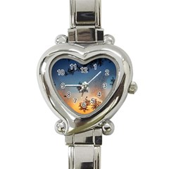 Hardest Frost Winter Cold Frozen Heart Italian Charm Watch
