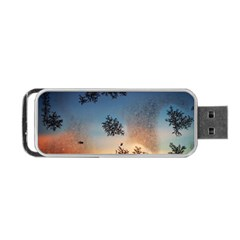 Hardest Frost Winter Cold Frozen Portable Usb Flash (two Sides) by Amaryn4rt