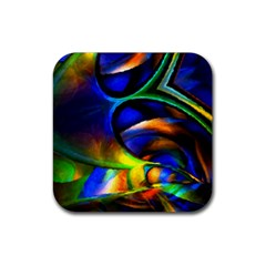 Light Texture Abstract Background Rubber Square Coaster (4 Pack)  by Amaryn4rt