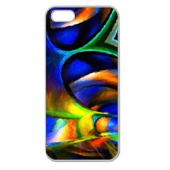 Light Texture Abstract Background Apple Seamless Iphone 5 Case (clear)