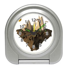 Low Poly Floating Island 3d Render Travel Alarm Clocks