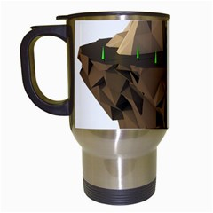 Low Poly Floating Island 3d Render Travel Mugs (white) by Amaryn4rt