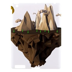 Low Poly Floating Island 3d Render Apple Ipad 3/4 Hardshell Case by Amaryn4rt