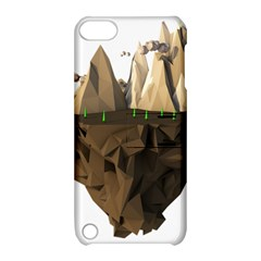 Low Poly Floating Island 3d Render Apple Ipod Touch 5 Hardshell Case With Stand by Amaryn4rt