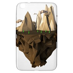 Low Poly Floating Island 3d Render Samsung Galaxy Tab 3 (8 ) T3100 Hardshell Case