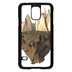 Low Poly Floating Island 3d Render Samsung Galaxy S5 Case (black) by Amaryn4rt