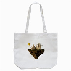 Low Poly Floating Island 3d Render Tote Bag (white) by Amaryn4rt