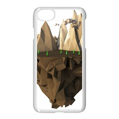 Low Poly Floating Island 3d Render Apple Iphone 7 Seamless Case (white) by Amaryn4rt