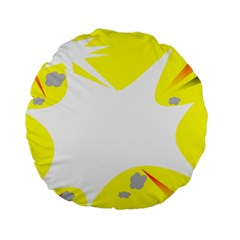 Mail Holyday Vacation Frame Standard 15  Premium Round Cushions by Amaryn4rt