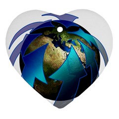 Migration Of The Peoples Escape Heart Ornament (two Sides) by Amaryn4rt