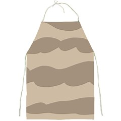 Pattern Wave Beige Brown Full Print Aprons by Amaryn4rt