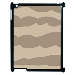 Pattern Wave Beige Brown Apple Ipad 2 Case (black) by Amaryn4rt