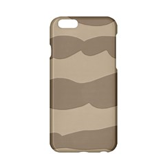Pattern Wave Beige Brown Apple Iphone 6/6s Hardshell Case