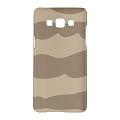 Pattern Wave Beige Brown Samsung Galaxy A5 Hardshell Case  by Amaryn4rt