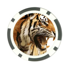 Royal Tiger National Park Poker Chip Card Guard by Amaryn4rt