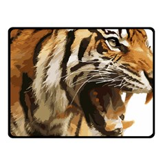 Royal Tiger National Park Fleece Blanket (small) by Amaryn4rt