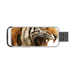Royal Tiger National Park Portable Usb Flash (one Side) by Amaryn4rt